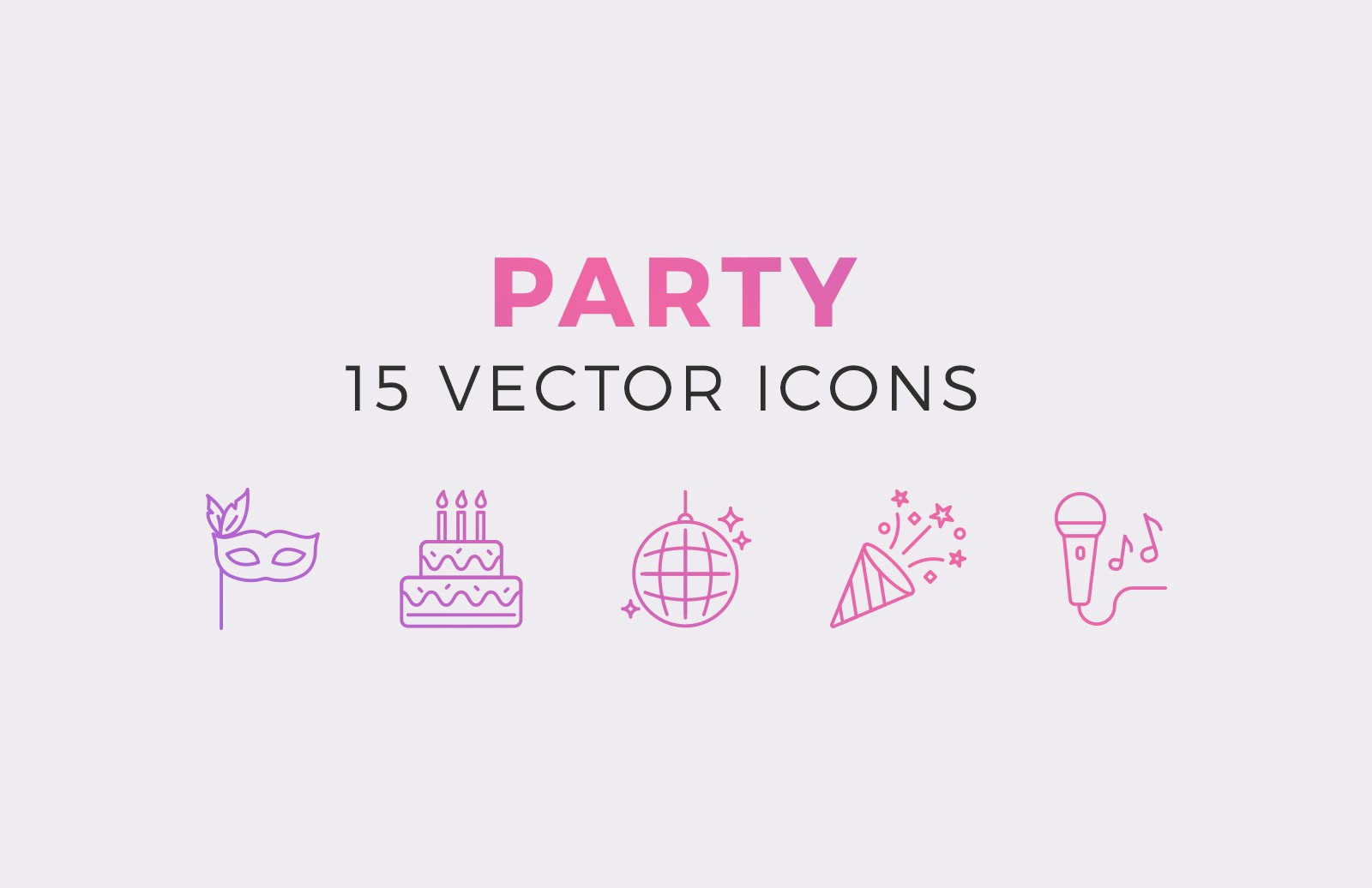Party Vector Icons Preview 1A