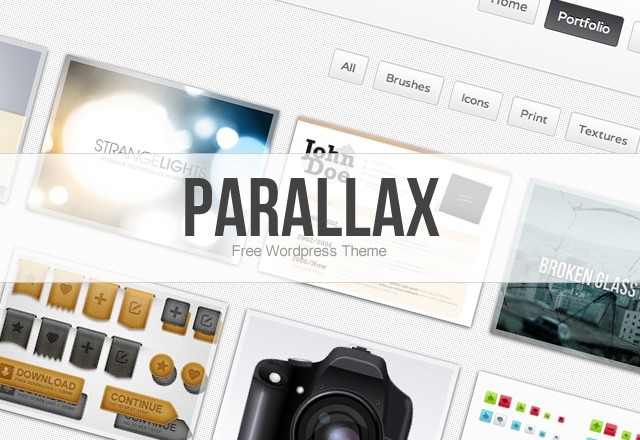 Parallax: Free Wordpress Theme 1
