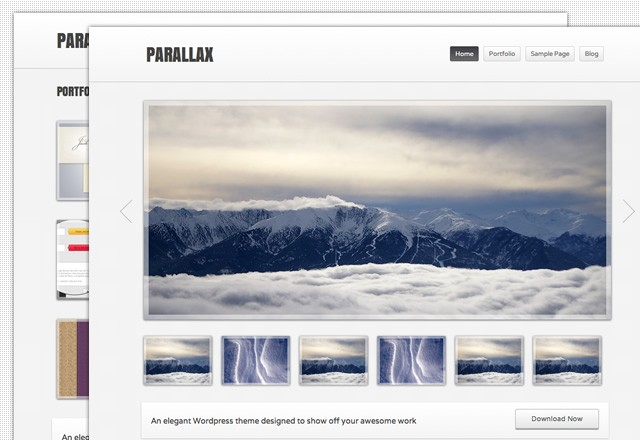 Parallax: Free Wordpress Theme 2