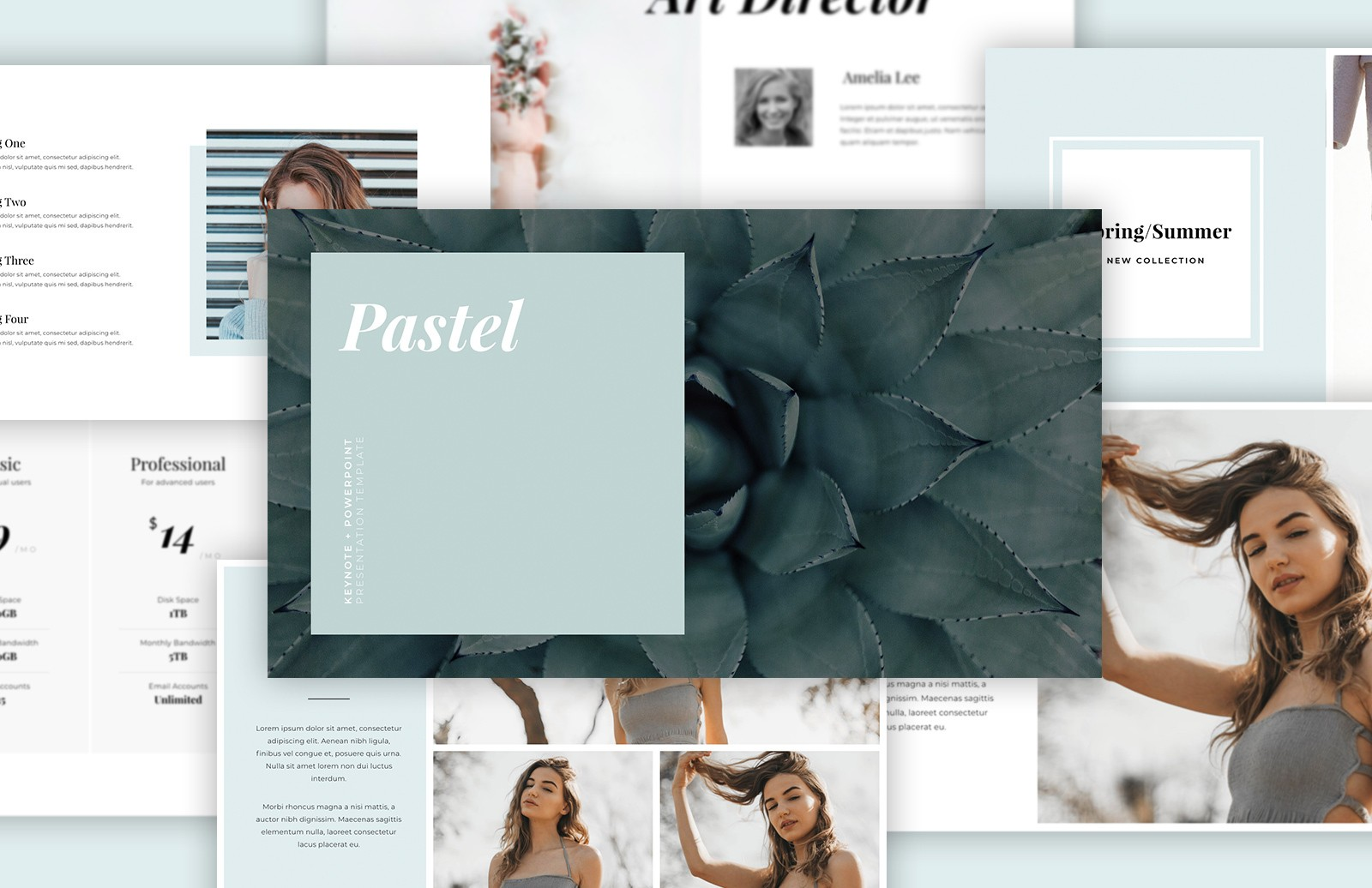 Pastel Keynote Powerpoint Template Preview 1