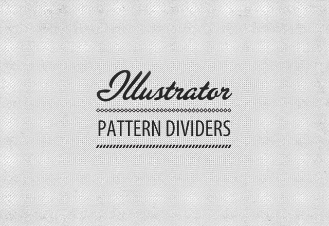 Illustrator Pattern Divider Brushes