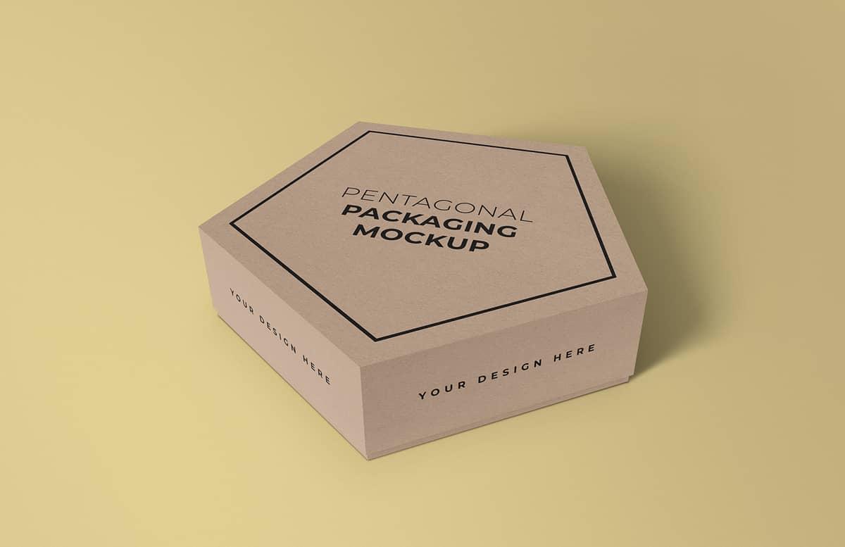 Pentagonal Box Mockup Preview 1