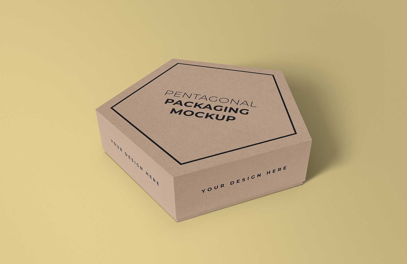 Pentagonal Box Mockup Preview 1