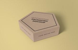 Free Pentagonal Box Mockup
