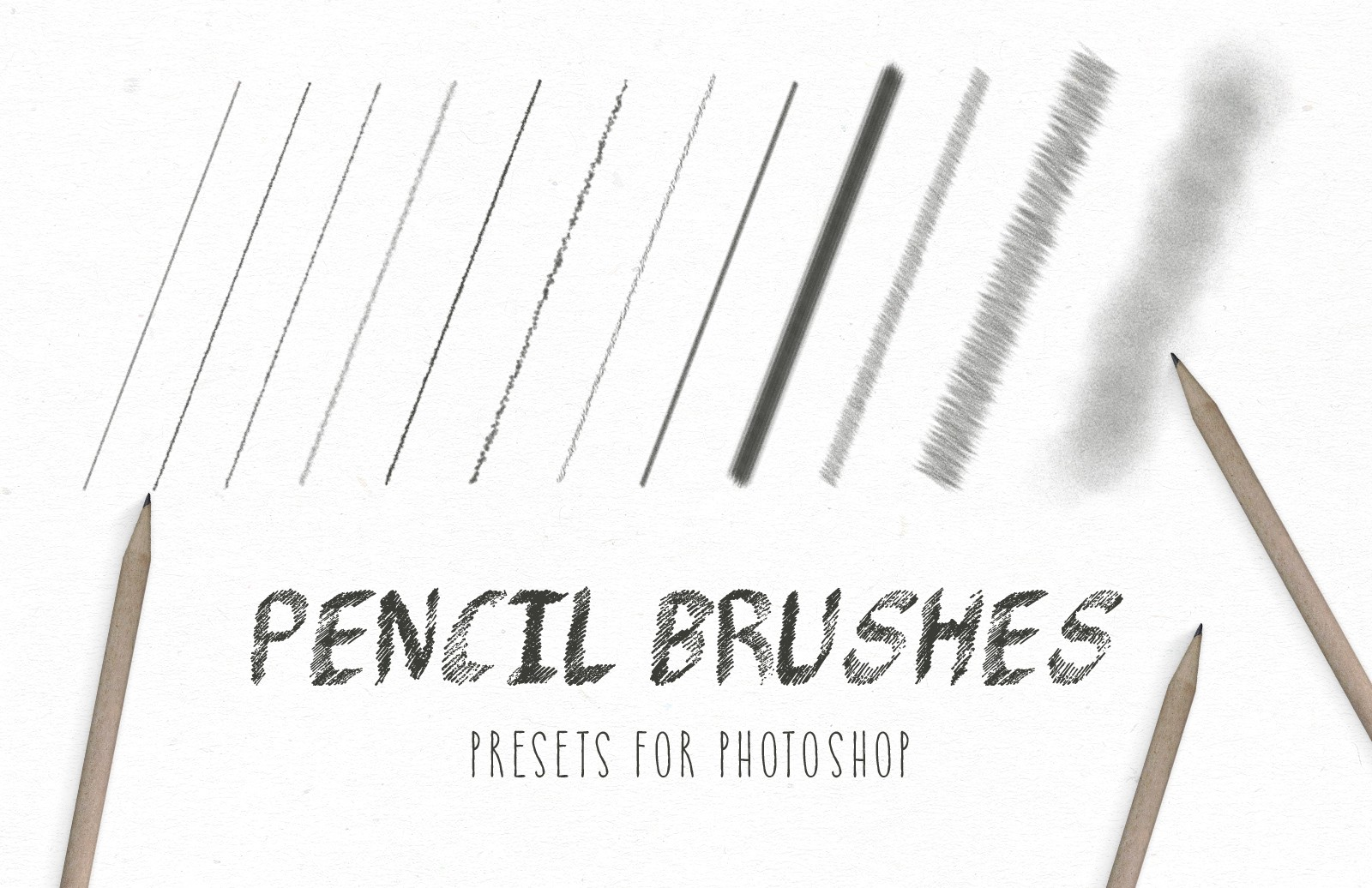 Pencil brushes for photoshop preview 1a