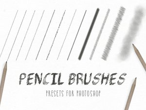Free Pencil Brushes for Photoshop 1