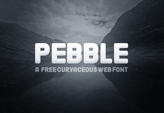 Pebble - Curvaceous Web Font