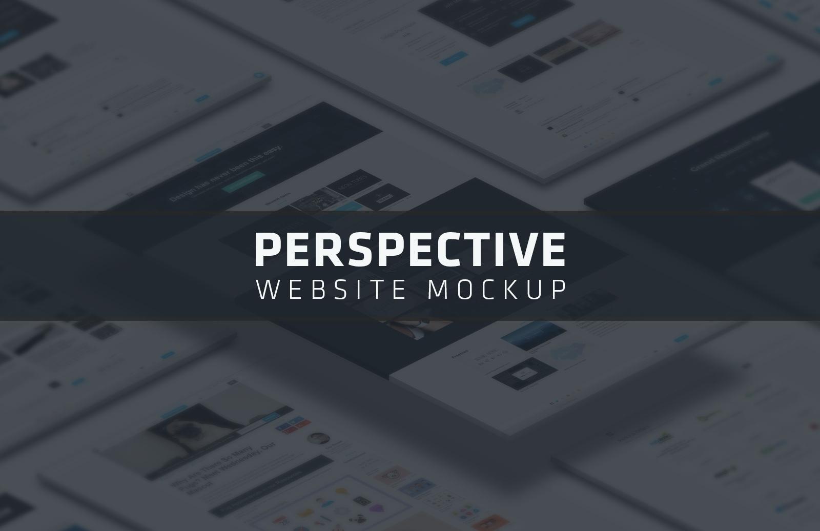 Perspective Website Mockup
