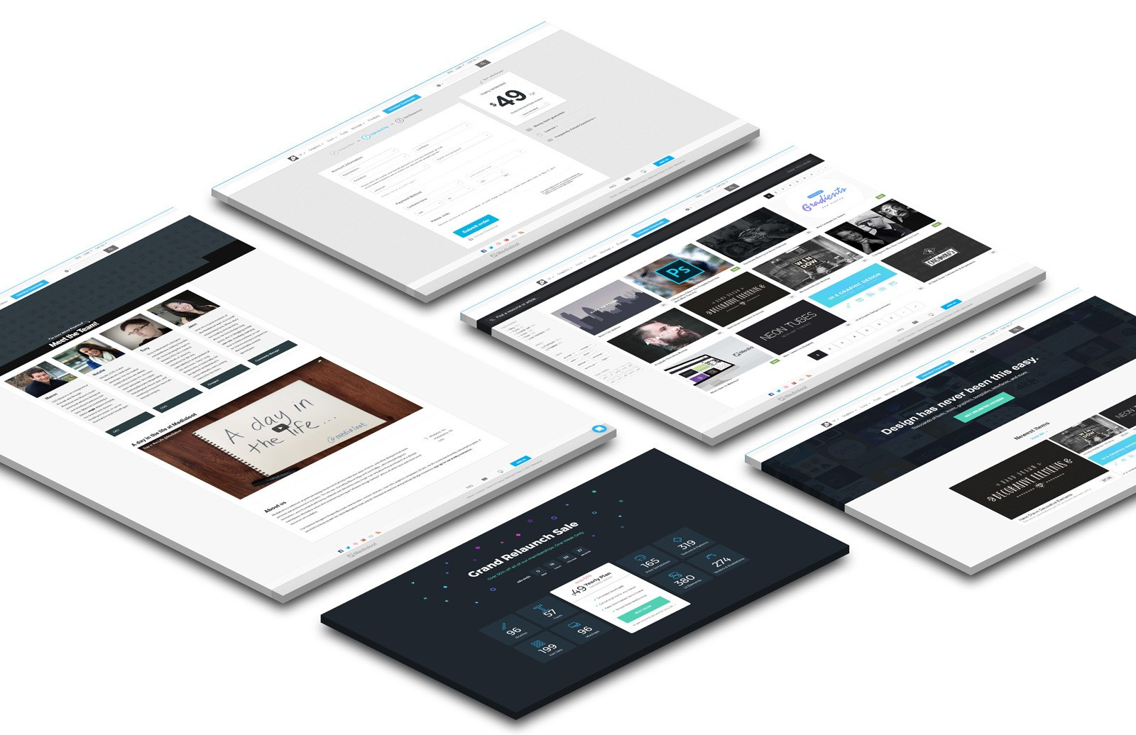 Large Perspective Website Mockup Preview 5