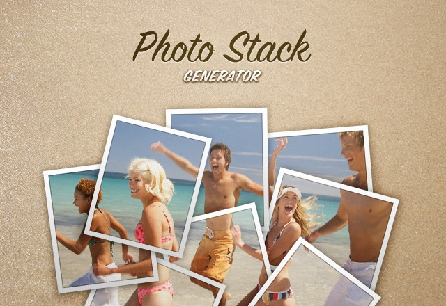 Photo Stack Frame Generator