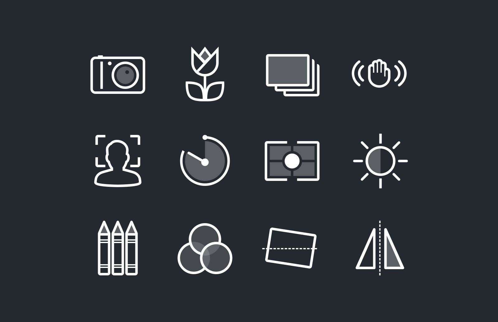 Photography & Camera Function Icons 1