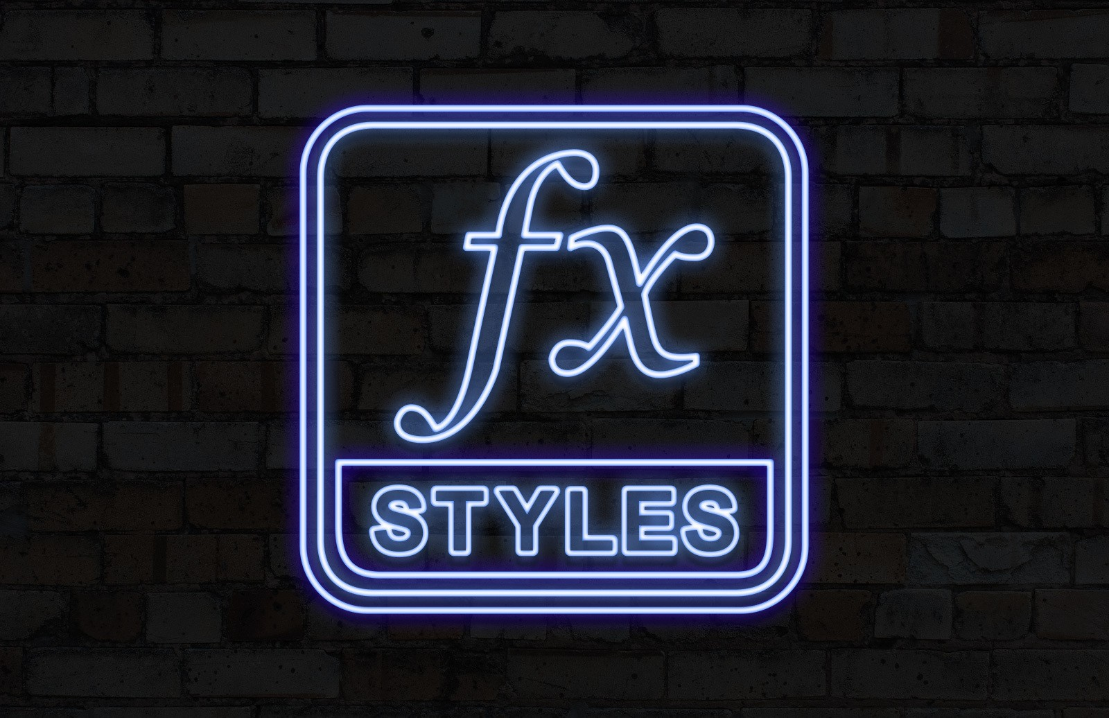 Photoshop Neon Layer Styles Preview 1