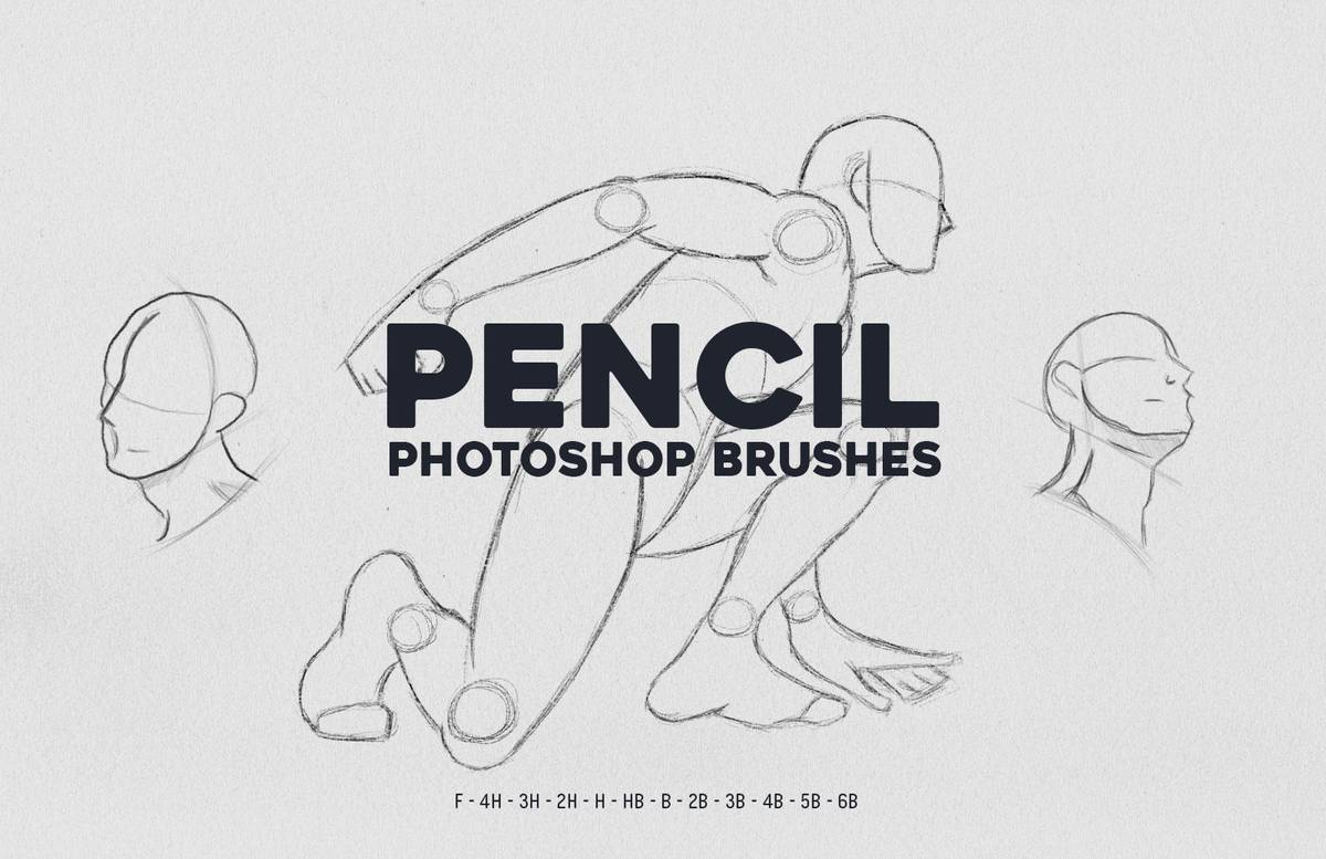 Photoshop Pencil Brushes Preview 1