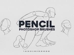 Photoshop Pencil Brushes 1