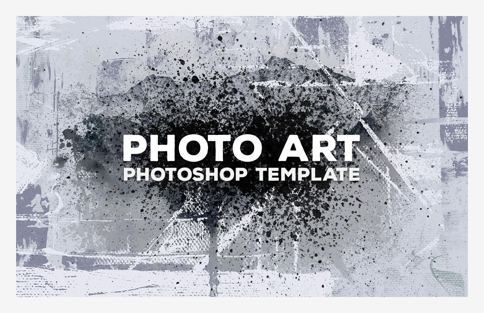 Photo Art Photoshop Template