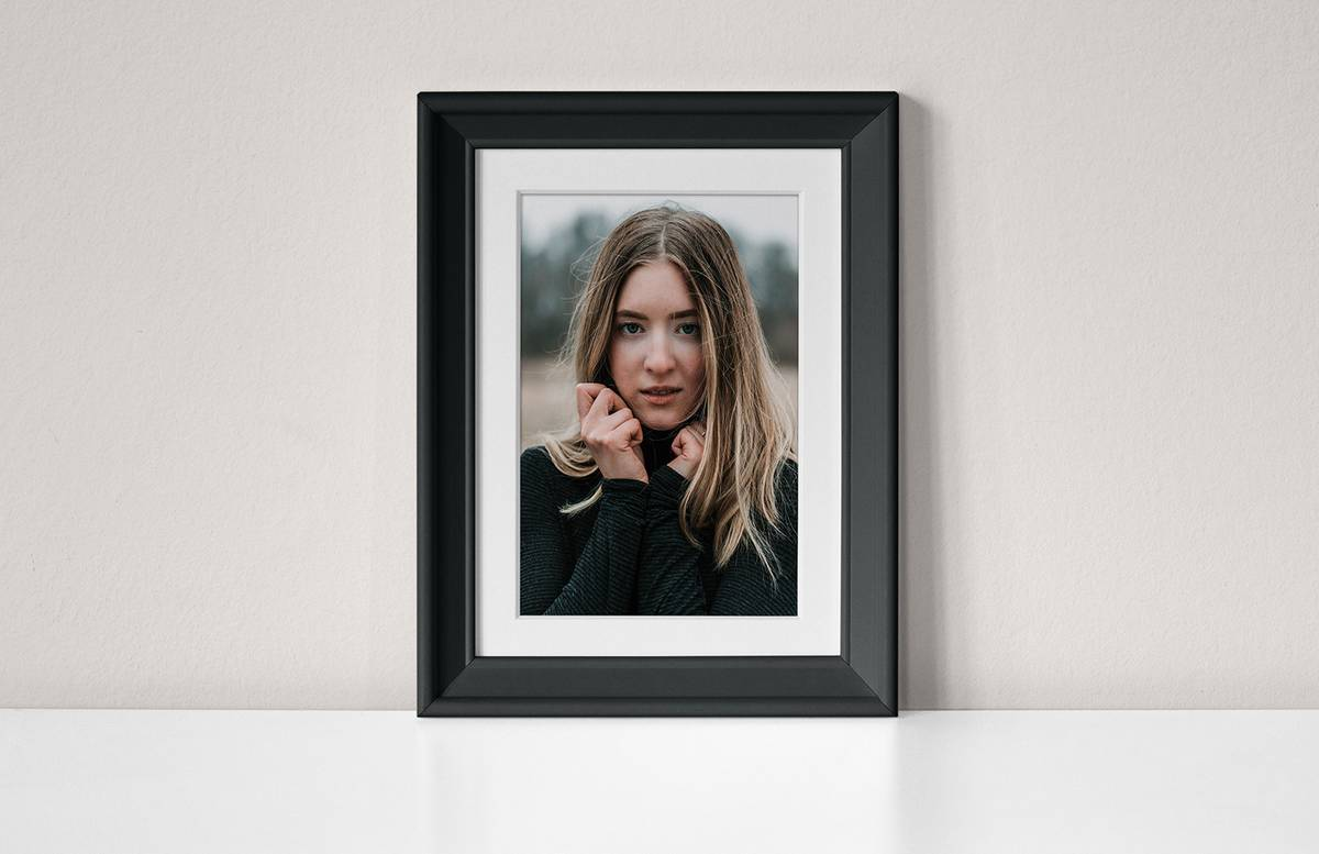 Photo Frame On Wall Scene Mockup Preview 1