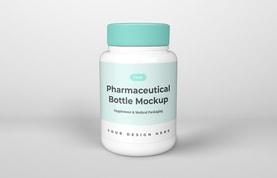 Free Pharmaceutical Bottle Mockup