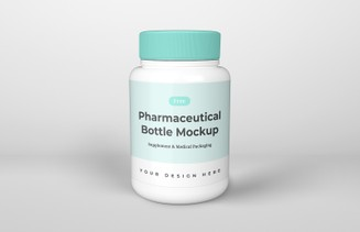 Free Pharmaceutical Bottle Mockup