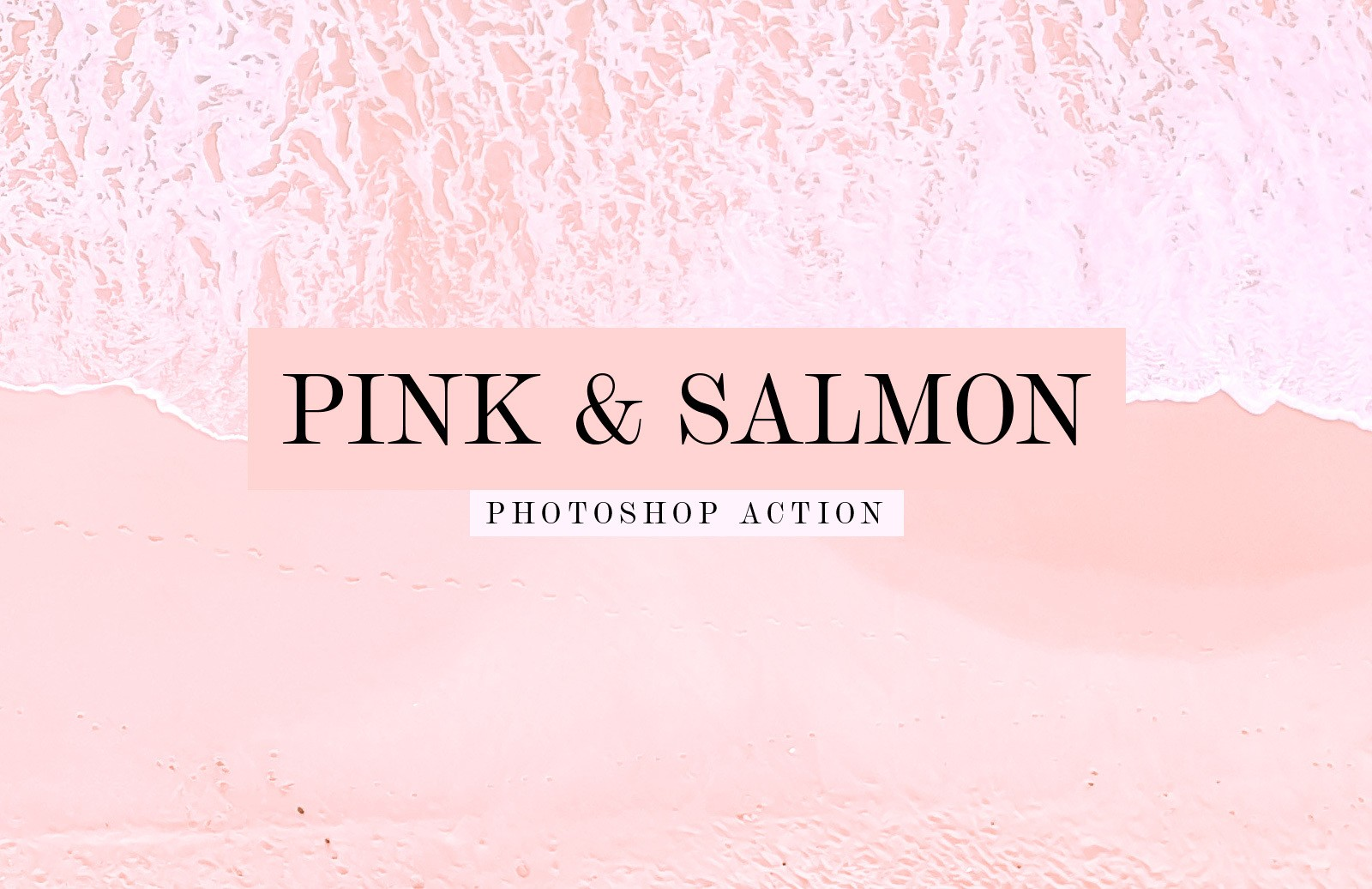 Pink And Salmon Photoshop Action Preview 1