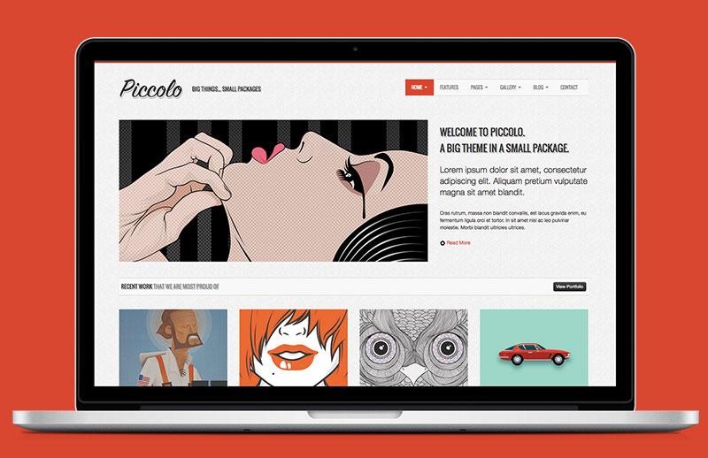 Piccolo Bootstrap HTML Template