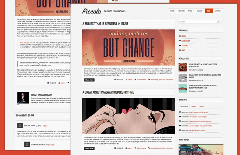 Piccolo Bootstrap HTML Template 2
