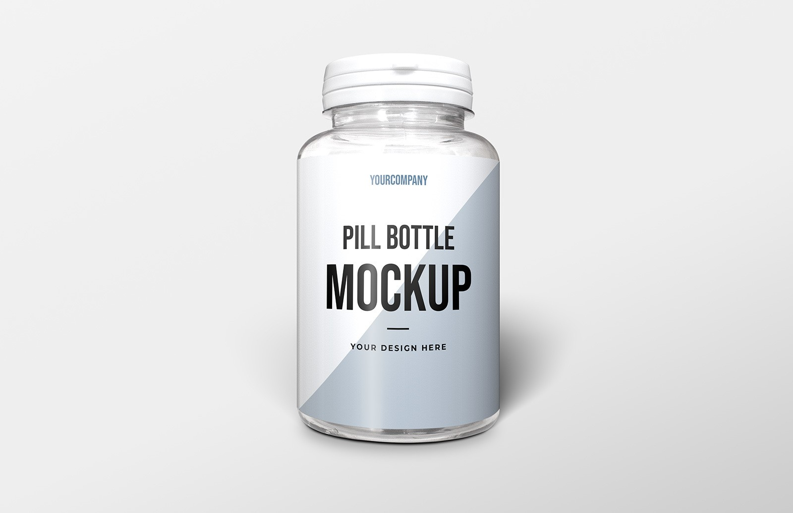 Pill Bottle Packaging Mockup