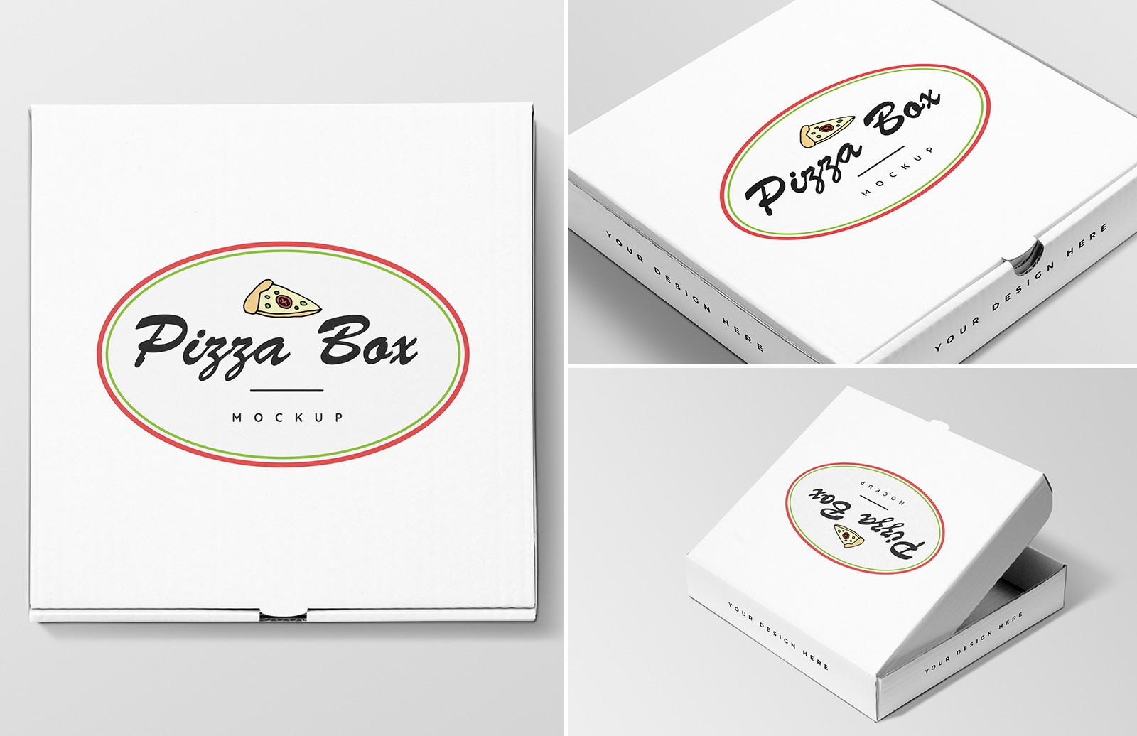 Pizza Box Mockups Preview 1A