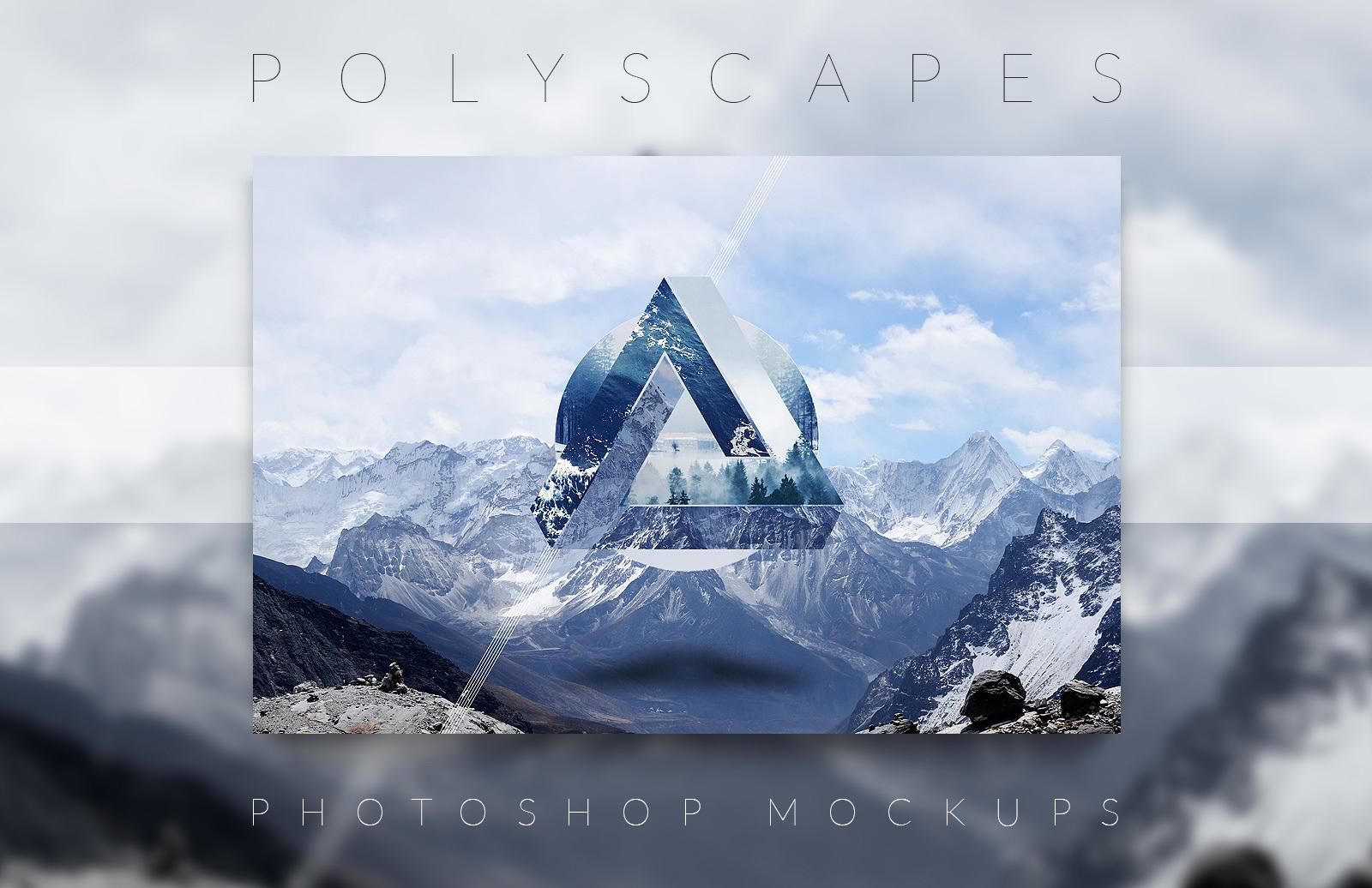 Polyscape Generator Photoshop Mockups