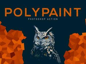 Polypaint Photoshop Action 1