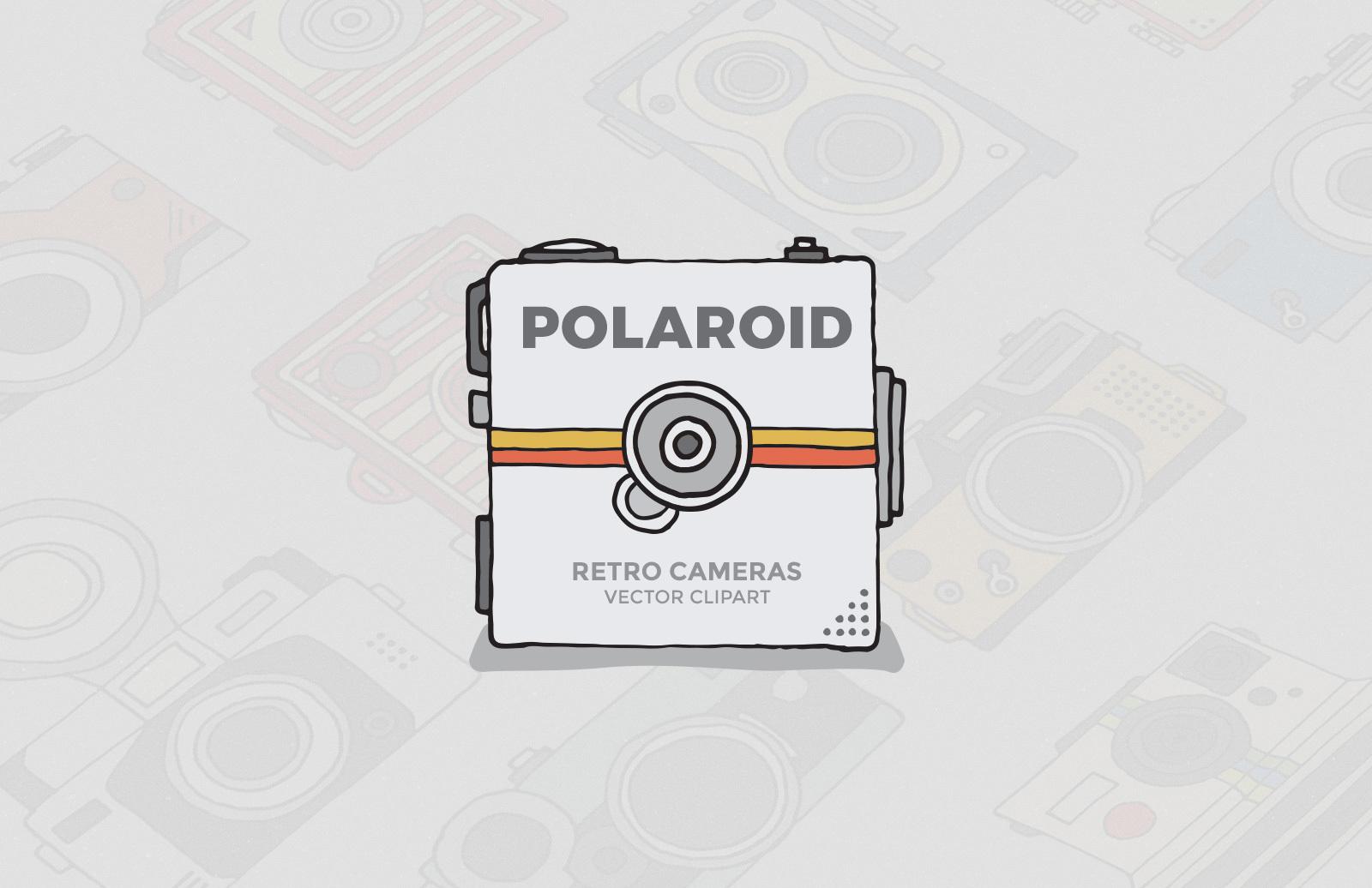 Polaroid Camera Clipart Preview 1