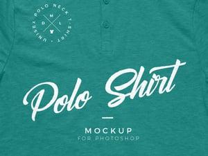 Polo Neck T Shirt Mockup 2