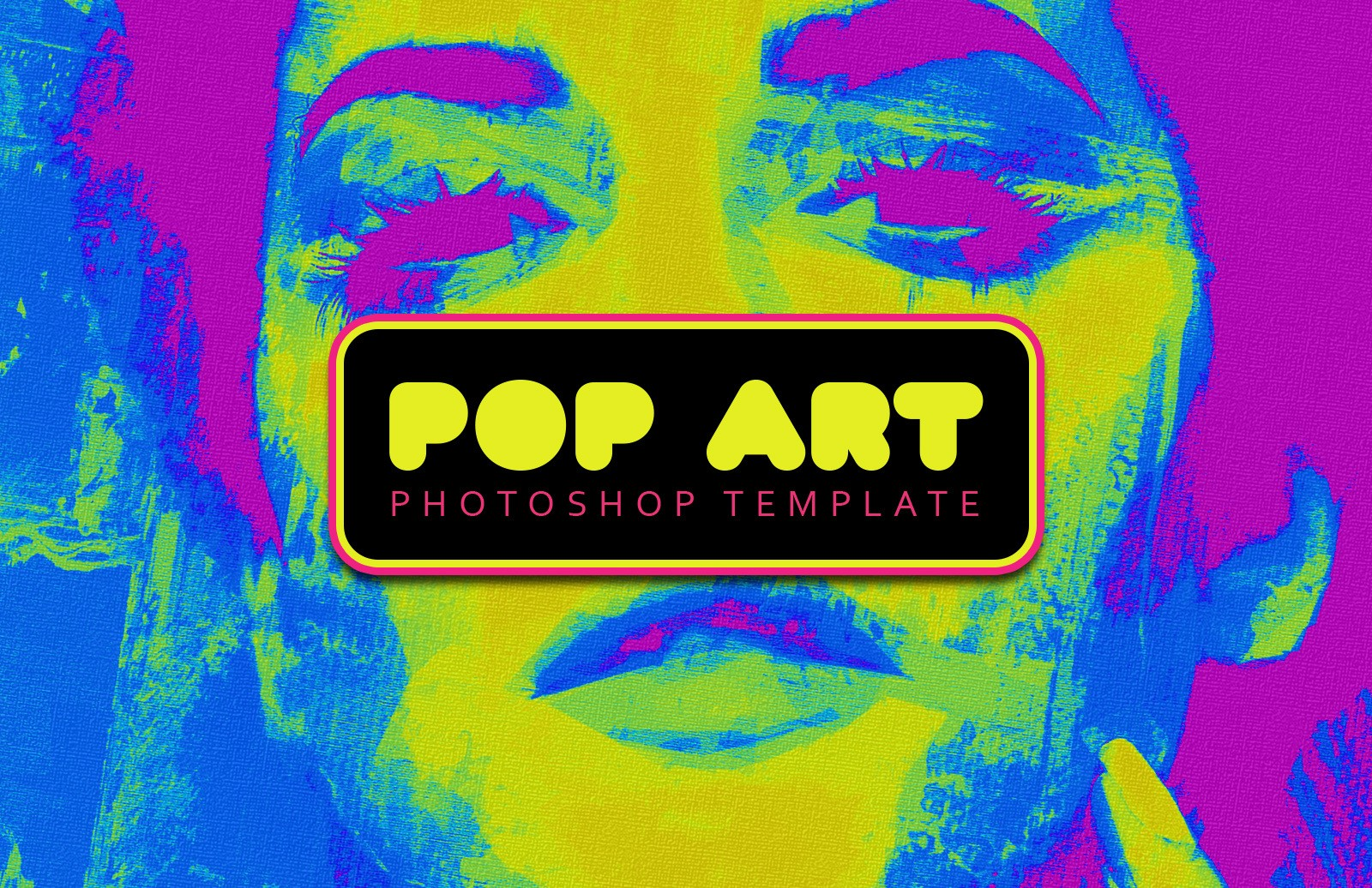 Pop Art Photoshop Template Preview 1