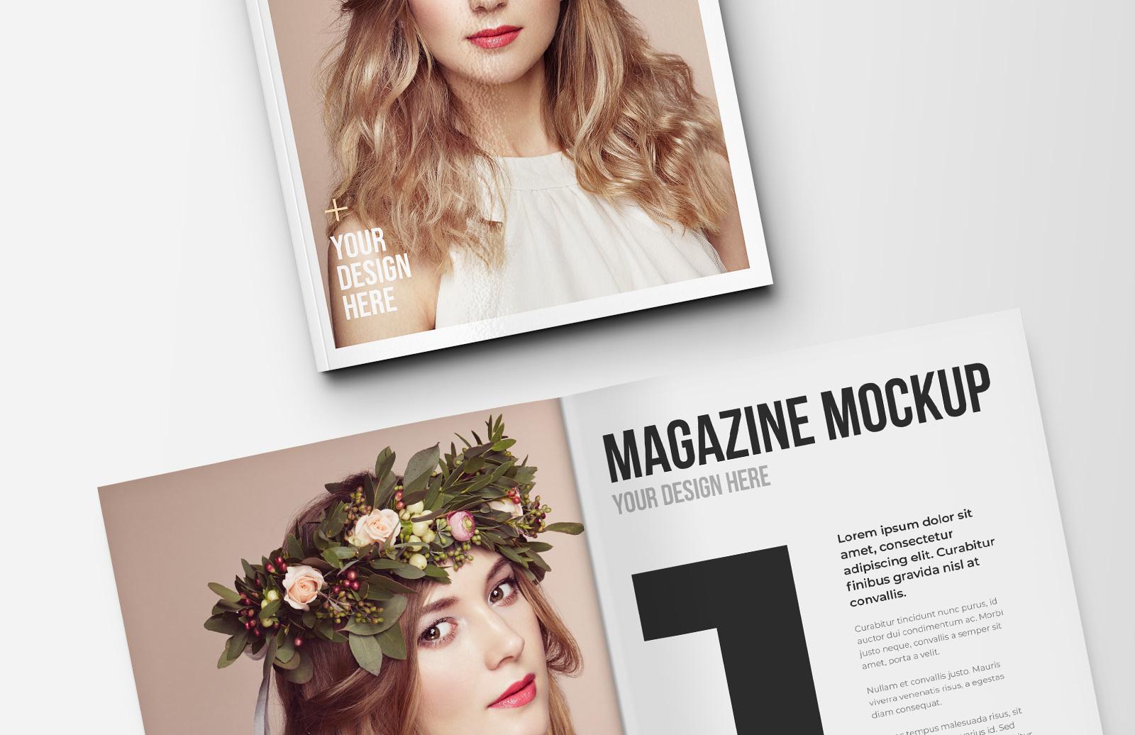Portrait Magazine Mockup Template