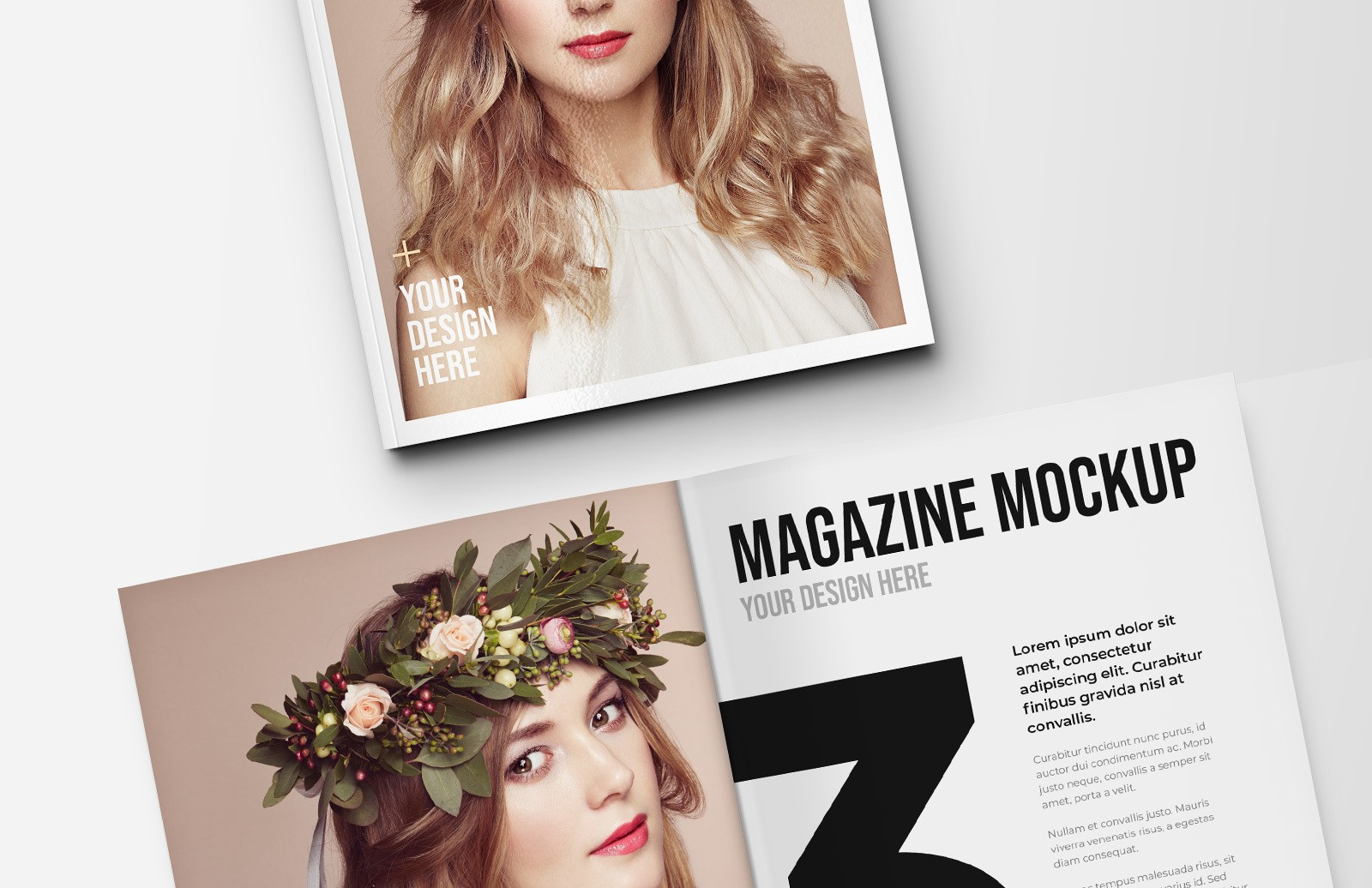 Portrait Magazine Mockup Preview 1A