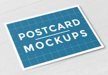 Free Postcard Mockups