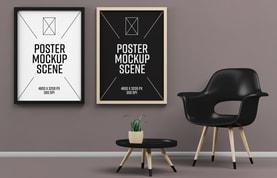 Poster Mockup Scene