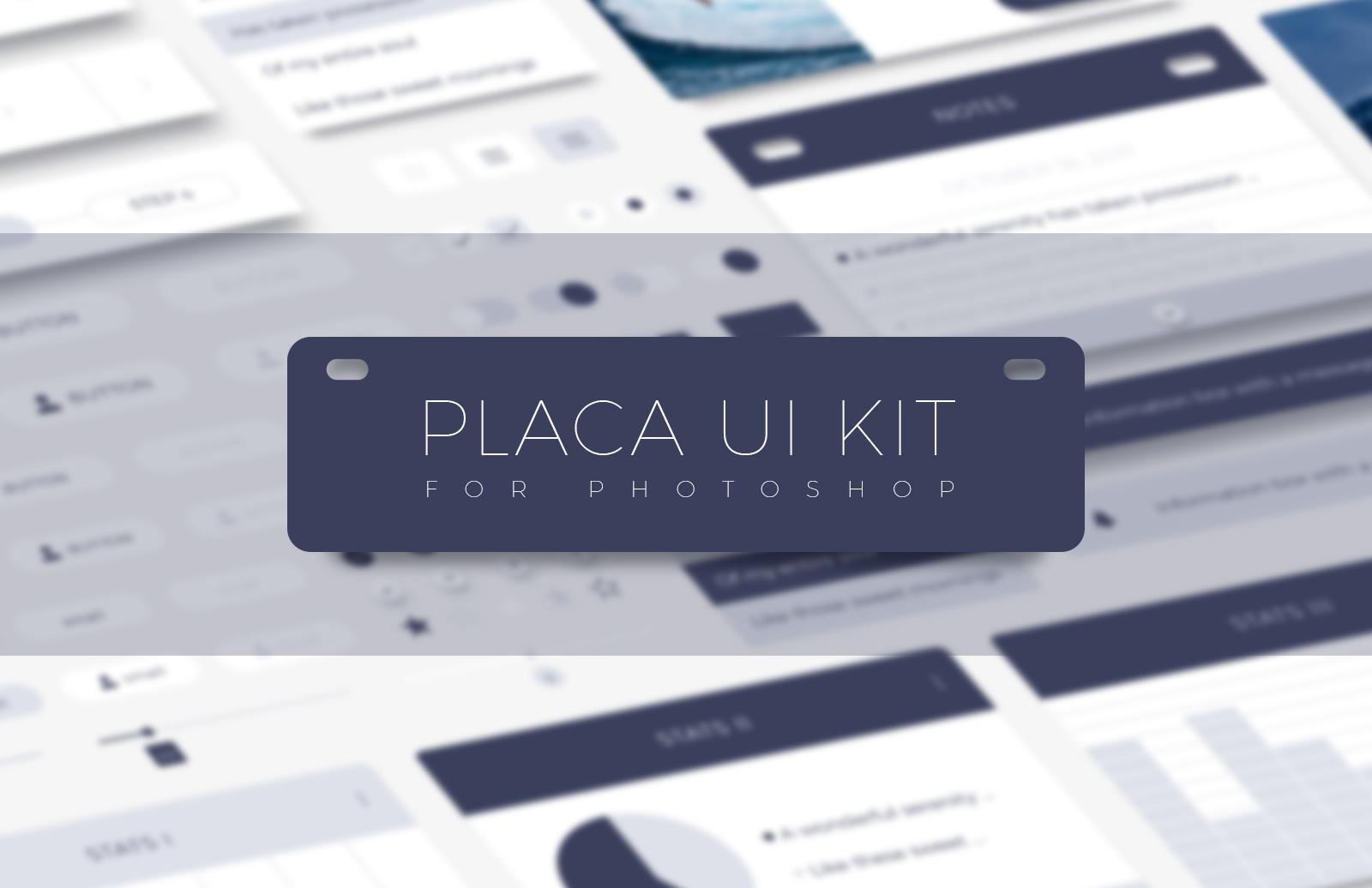 Placa - Photoshop UI Kit