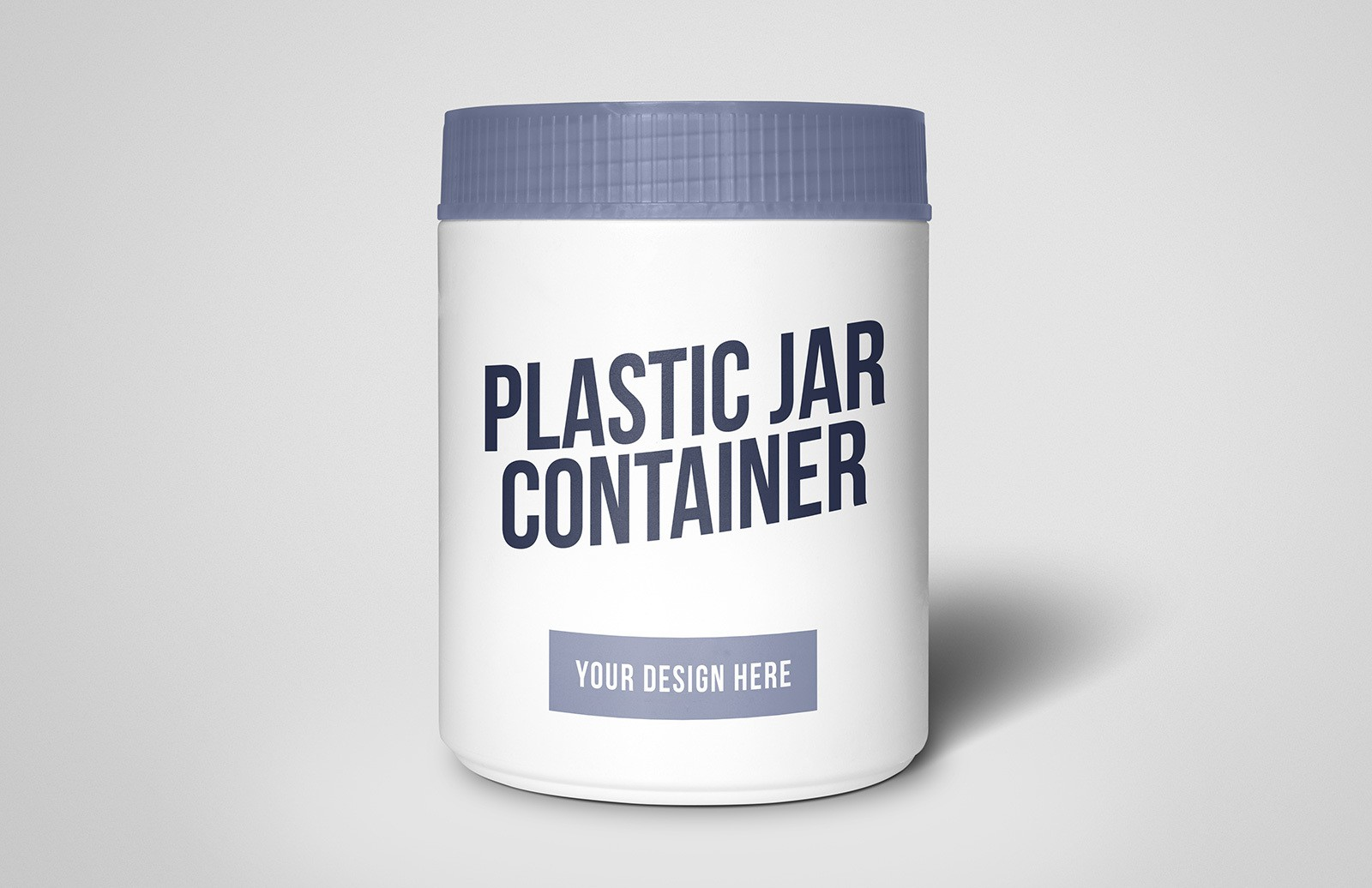 Plastic Jar Container Mockup Preview 1