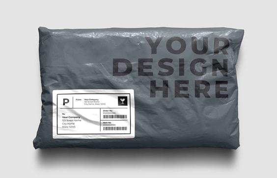 Plastic Post Pack Mockup