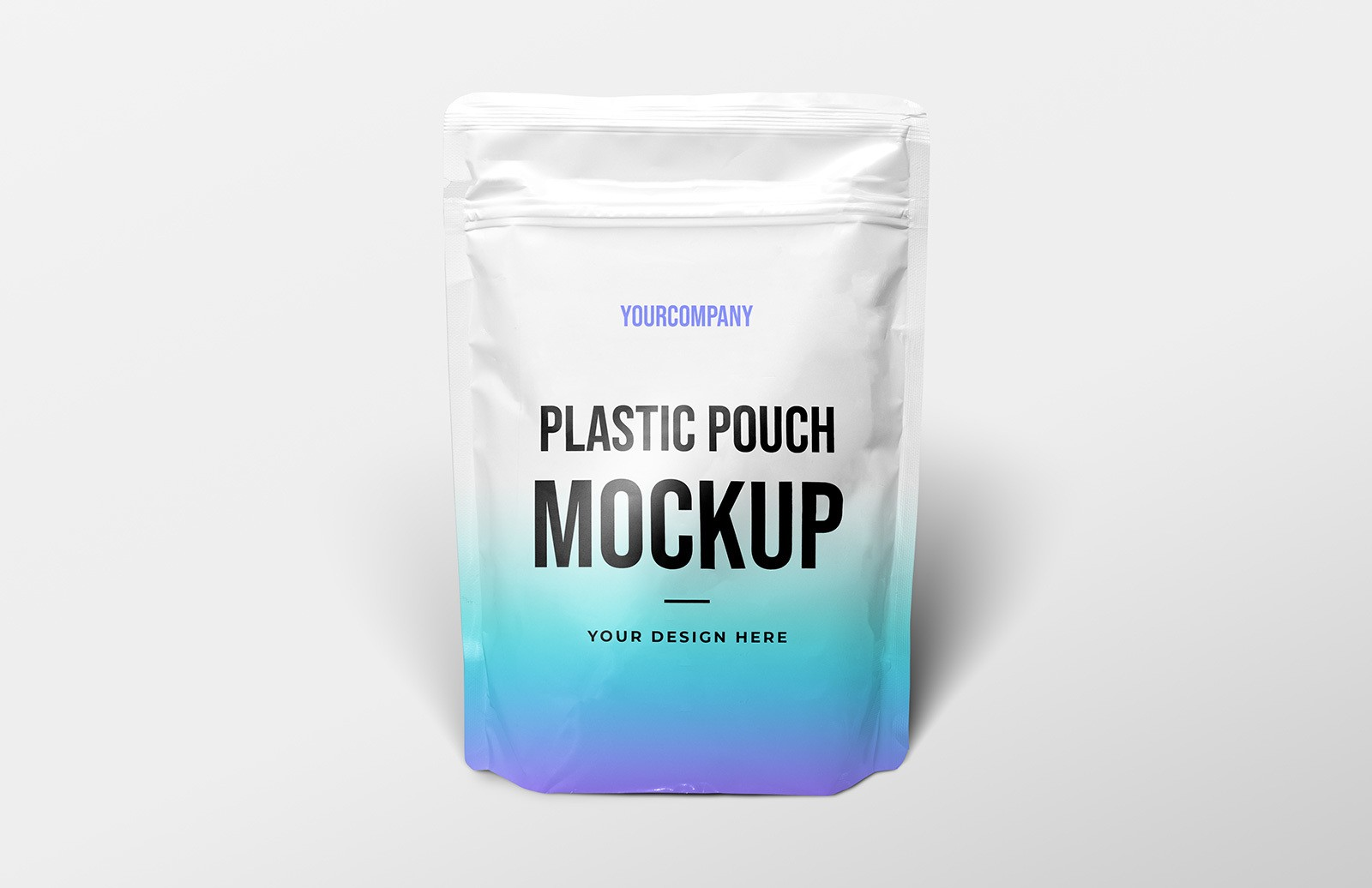 Plastic Pouch Packaging Mockup Preview 1