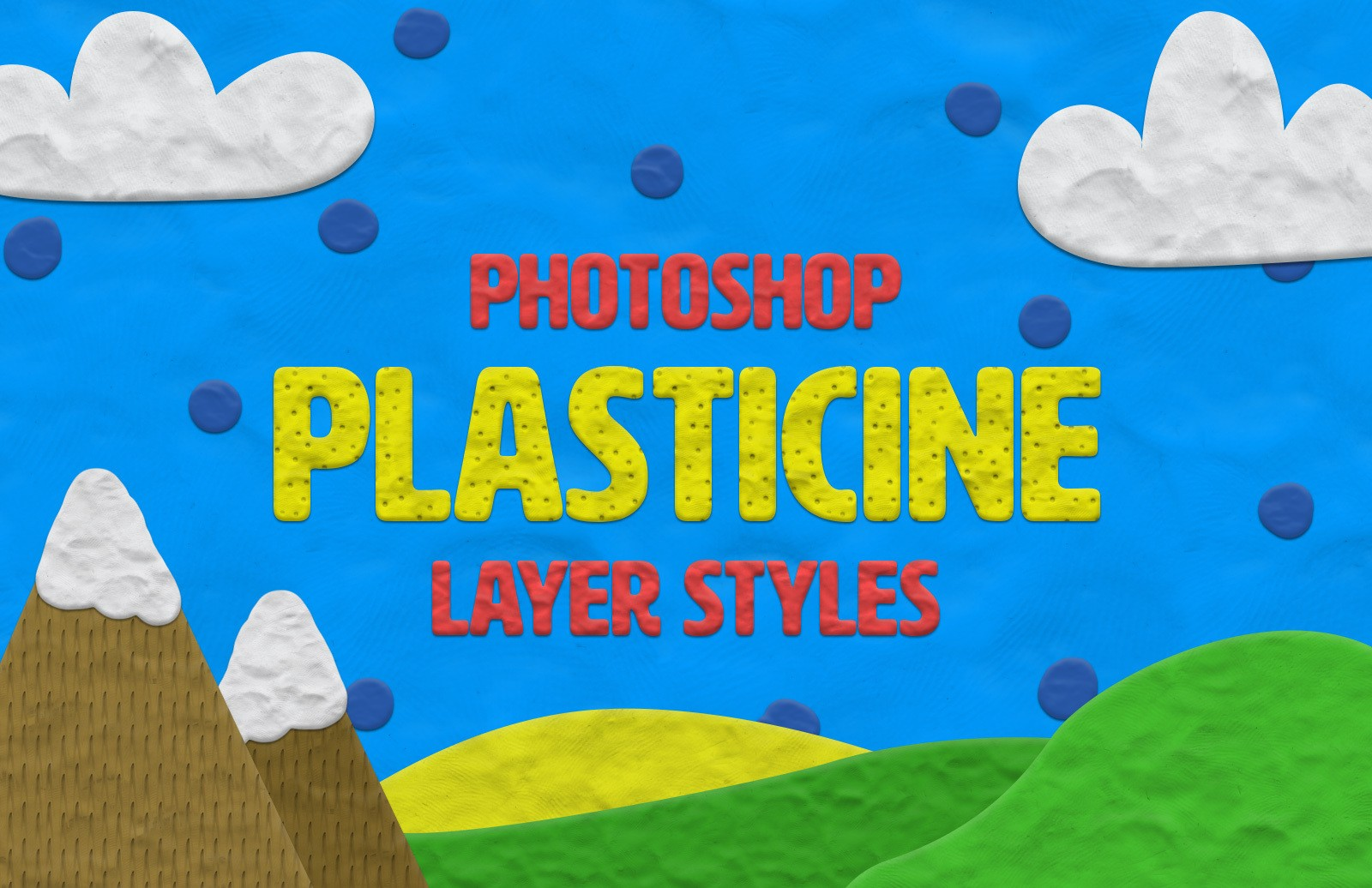 Plasticine Layer Styles Preview 1
