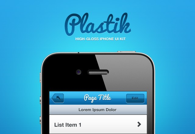 Plastik: iPhone UI Kit