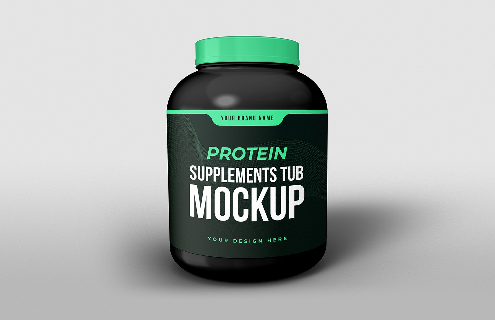 Protein Supplements Tub Mockup Preview 1