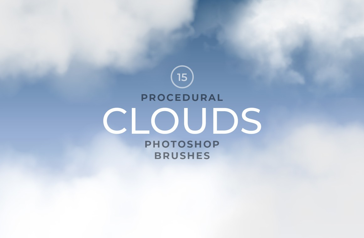 Procedural Clouds Photoshop Brushes