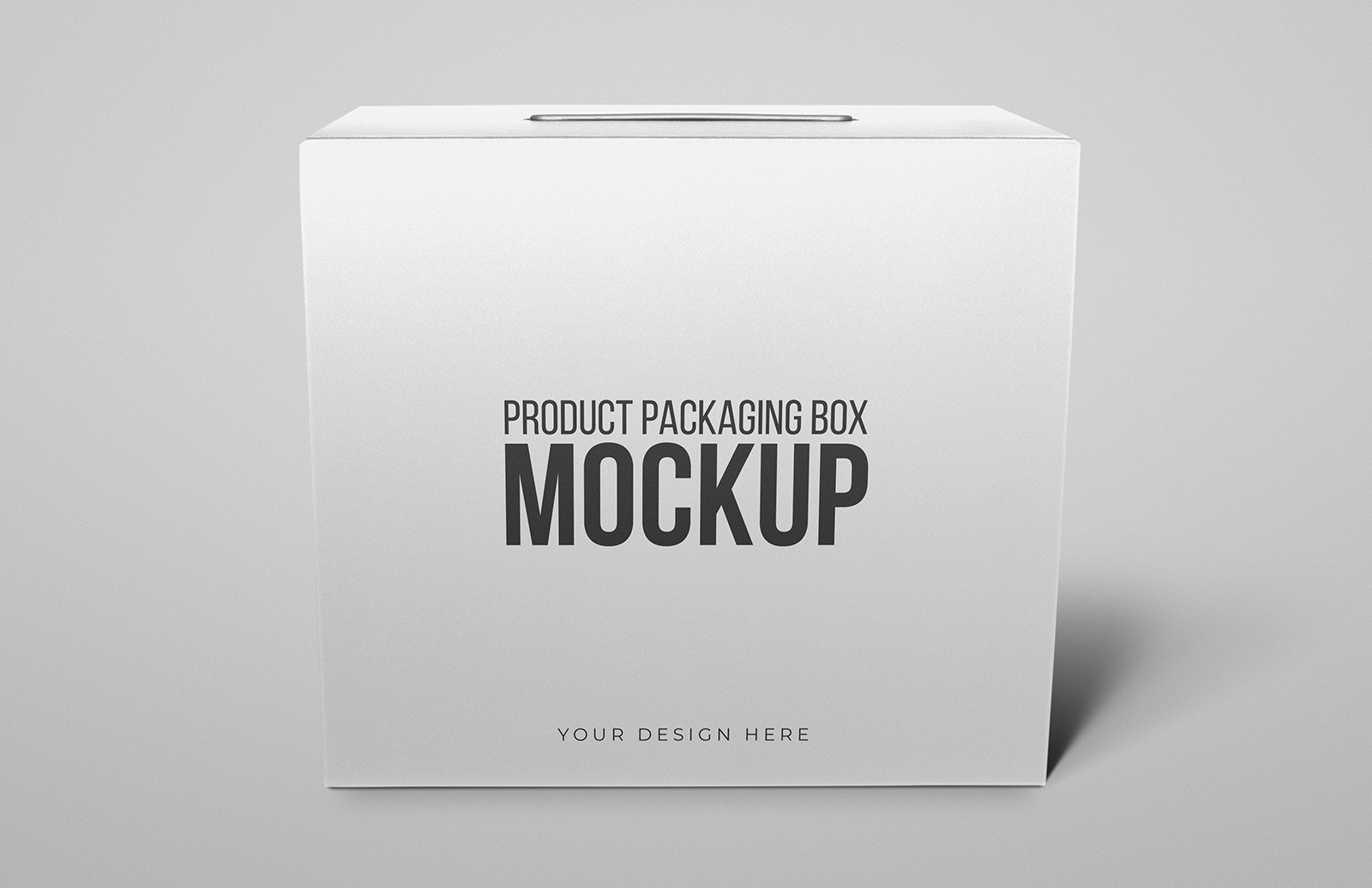 Product Packaging Box Mockup Preview 1