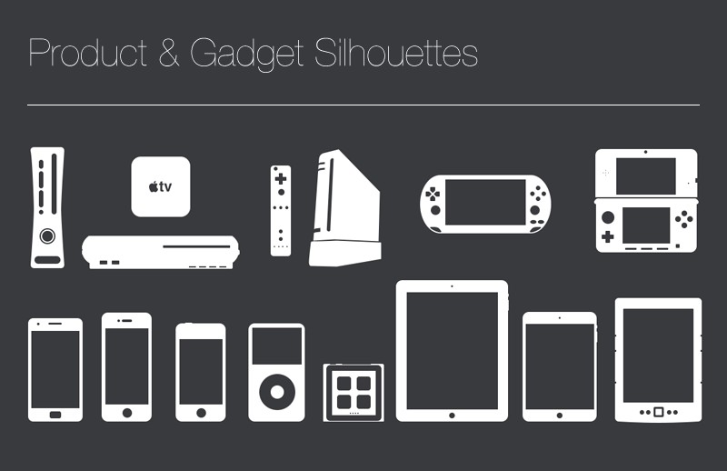Product & Gadget Silhouettes