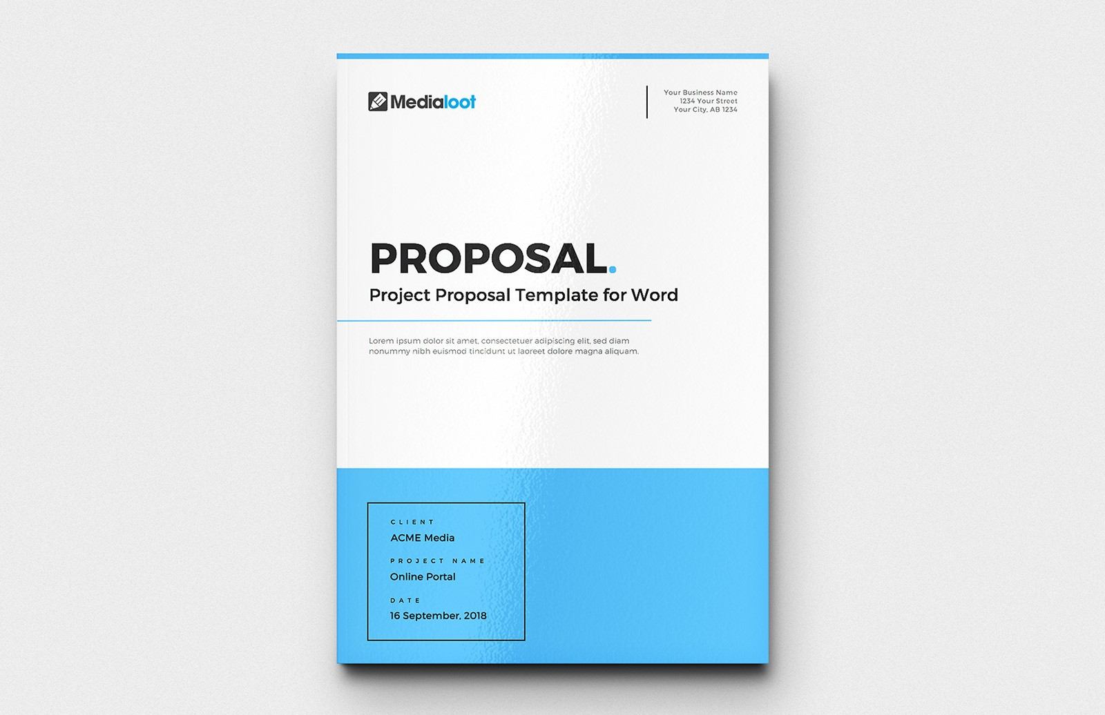 Project Proposal Template for Word
