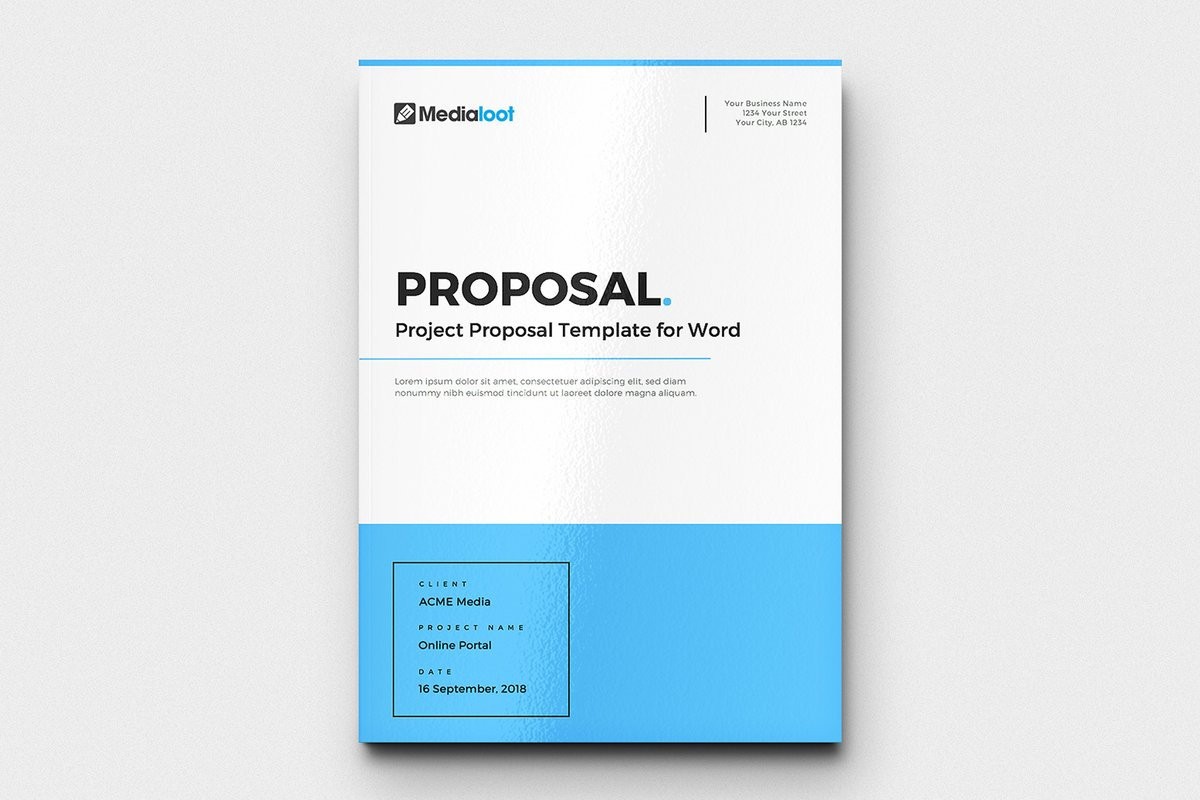 Project Proposal Template For Word Medialoot