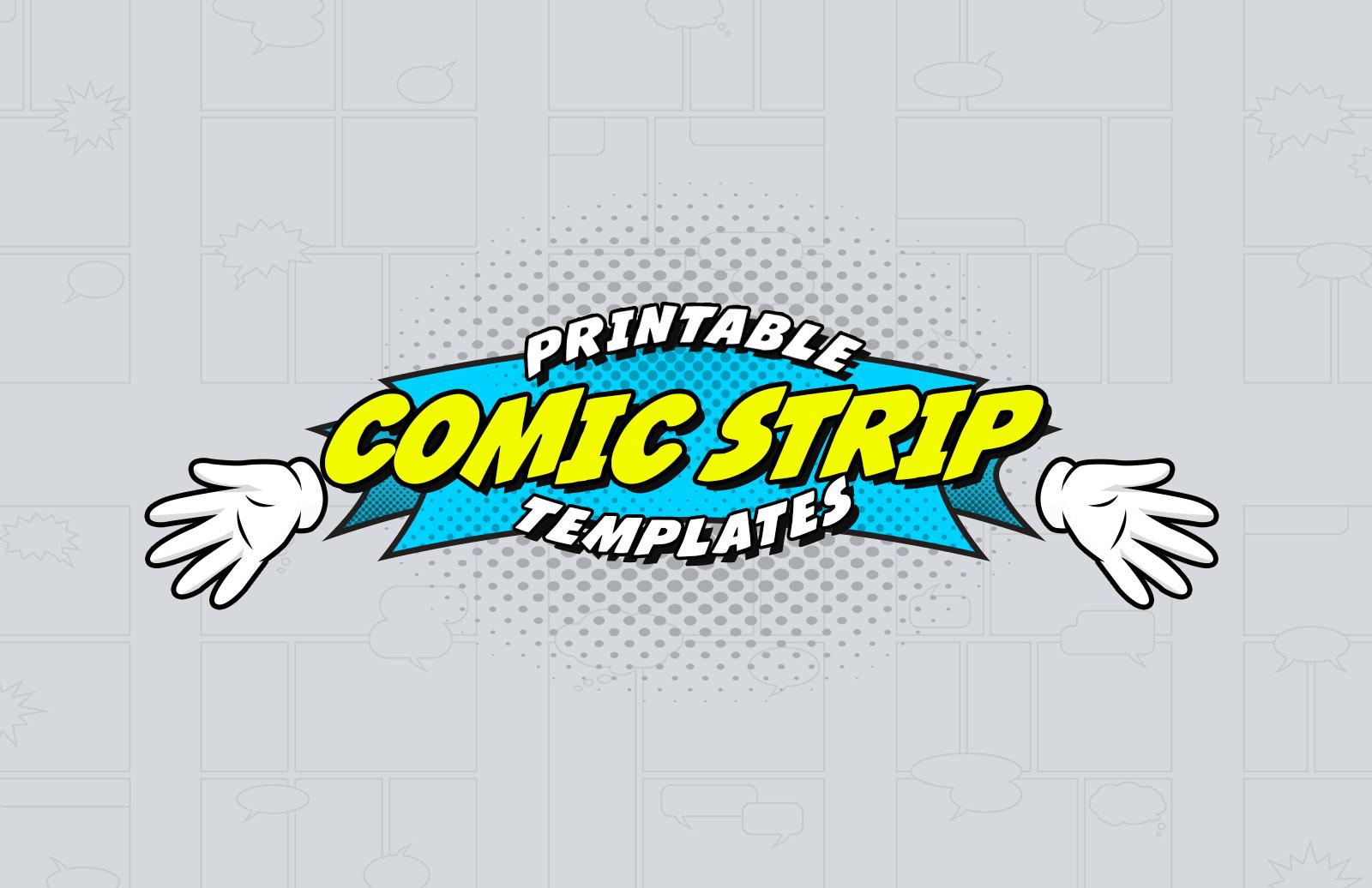 Printable Comic Strip Template Preview 1