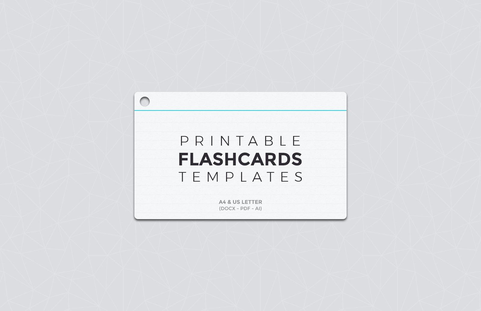 Free Printable Flashcard Templates